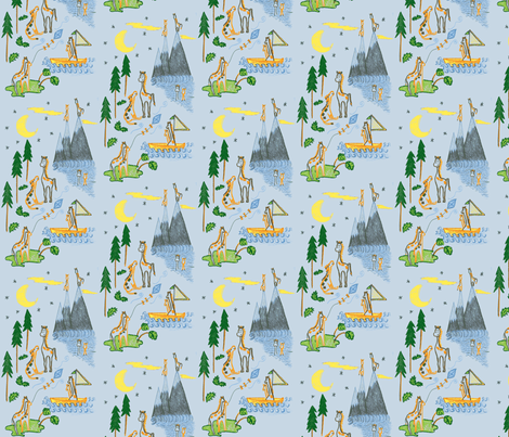 Making Memories in Blue fabric by kbexquisites on Spoonflower - custom fabric