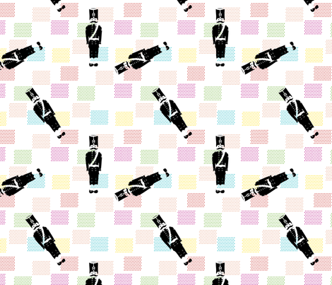 Fabric_Little_Soldier_black fabric by vannina on Spoonflower - custom fabric