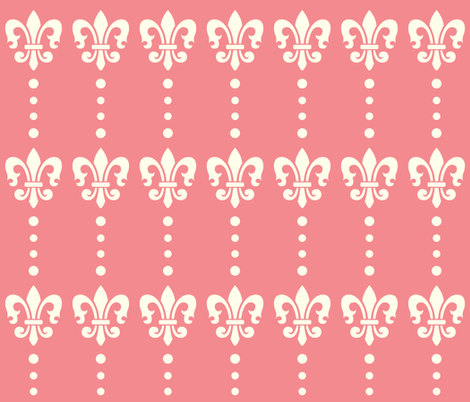 Fleur de lis Dots fabric by peacefuldreams on Spoonflower - custom fabric