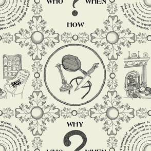 It's a mystery!!!!!!!!!!!!! - Traditional Toile