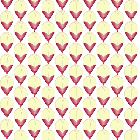 Sugarbush Buds All in a Row fabric by yomarie on Spoonflower - custom fabric