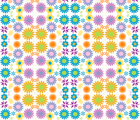 Flower Power  fabric by naenaesis on Spoonflower - custom fabric