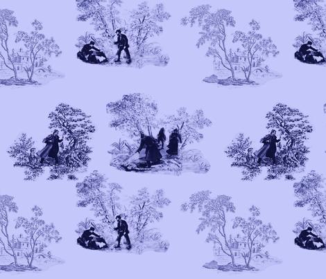 murder_mystery toile 2 fabric by m__elizabethblair on Spoonflower - custom fabric