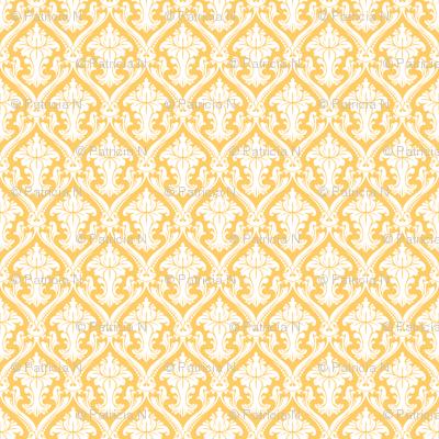 Vintage Yellow Damask