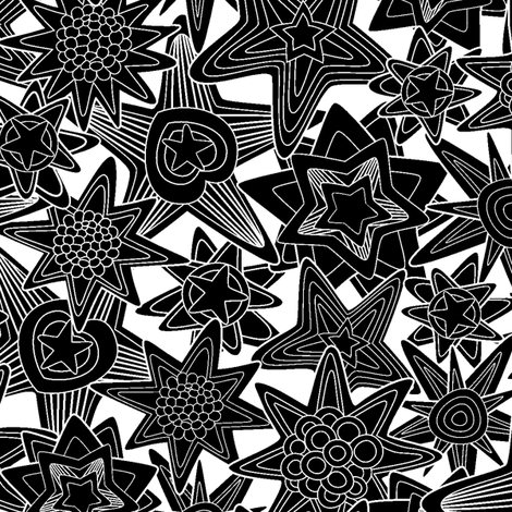 My dreams. black and white. fabric by juliagrifol on Spoonflower - custom fabric