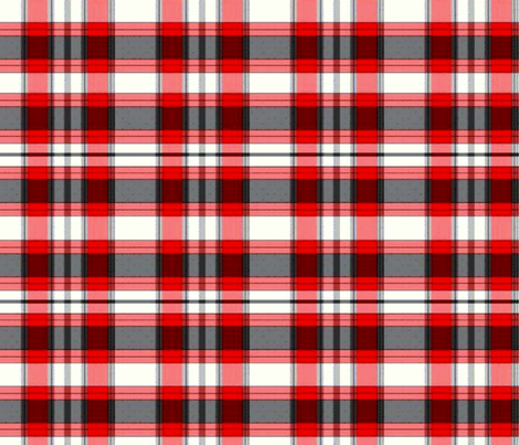 red grey check fabric by nascustomlife on Spoonflower - custom fabric
