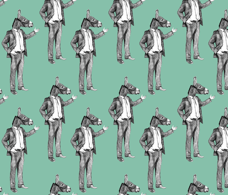 Donkey man fabric by lusykoror on Spoonflower - custom fabric