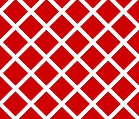 Bold Red lattice  fabric by nascustomlife on Spoonflower - custom fabric