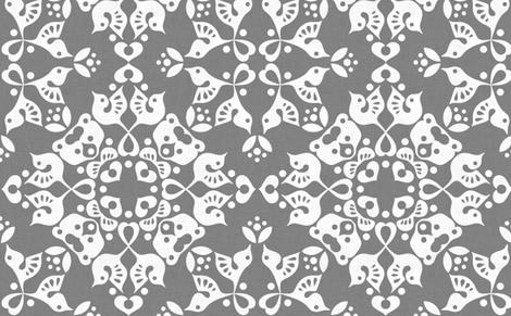 Freyja_forest_grey fabric by bjornonsaturday on Spoonflower - custom fabric