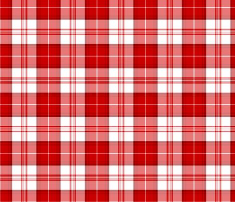 Red Tartan Bold fabric by nascustomlife on Spoonflower - custom fabric