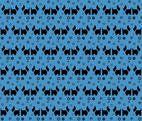 SCOTTY'S BLUE STARZ fabric by bluevelvet on Spoonflower - custom fabric