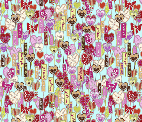 je t'aime (lolly love letters) fabric by scrummy on Spoonflower - custom fabric