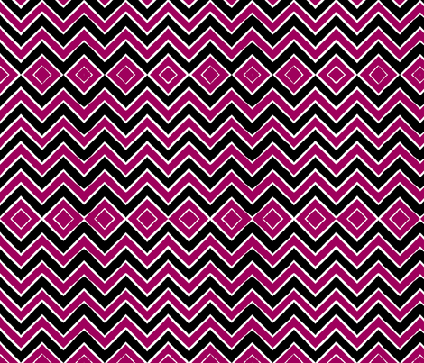 Fuschia Tribal Chevron fabric by eclecticlauren on Spoonflower - custom fabric