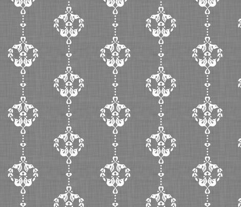 lovebird round stripe fabric by bjornonsaturday on Spoonflower - custom fabric