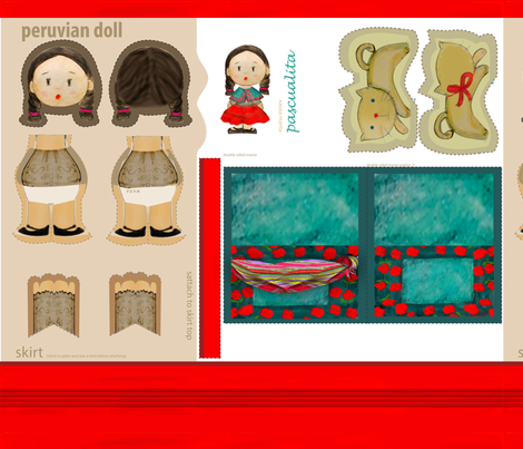 peruvian doll fabric by yin on Spoonflower - custom fabric
