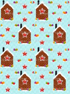 Christmas Pretzel Cabins