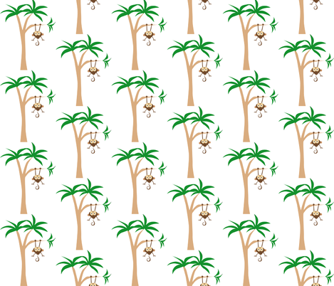 Hanging Monkey fabric by peacefuldreams on Spoonflower - custom fabric