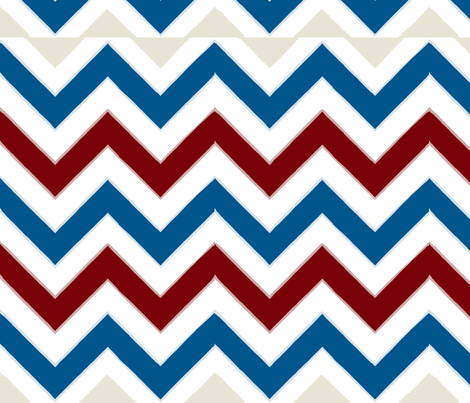 Nautical Tribal Chevron fabric by eclecticlauren on Spoonflower - custom fabric