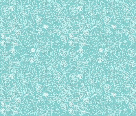 Lace Blue fabric by curious_nook on Spoonflower - custom fabric