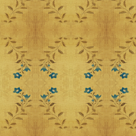 Flowers and Lace - blue flower fabric by materialsgirl on Spoonflower - custom fabric