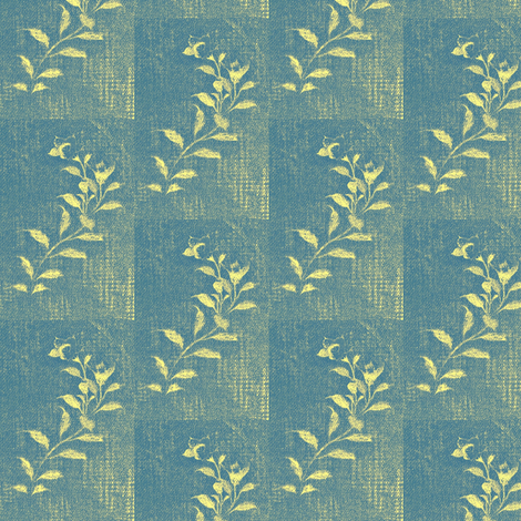 Flowers and Lace - faded bluejeans fabric by materialsgirl on Spoonflower - custom fabric