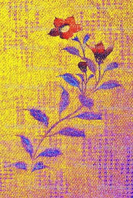 Flowers and Lace - purple, yellow, red, blue