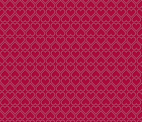 Pink Pearl Hearts fabric by jjtrends on Spoonflower - custom fabric