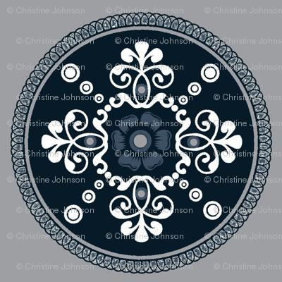 Timeless medallion / blue