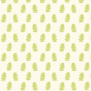 fern in light cream and green by Birds Have Flowers
