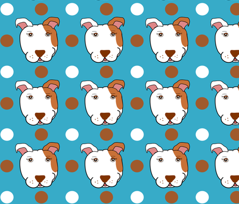 Magnolia the Pit Bull fabric by missyq on Spoonflower - custom fabric