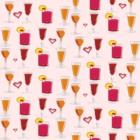cocktails fabric by krs_expressions on Spoonflower - custom fabric
