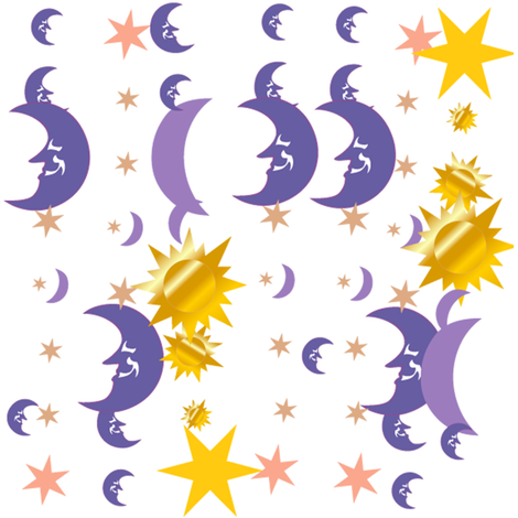 moon stars sun fabric by krs_expressions on Spoonflower - custom fabric