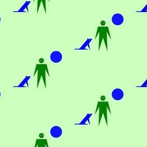 Dog, Man, Moon