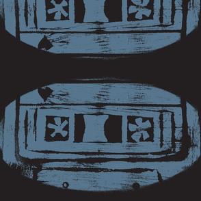 Blue on black Cassette