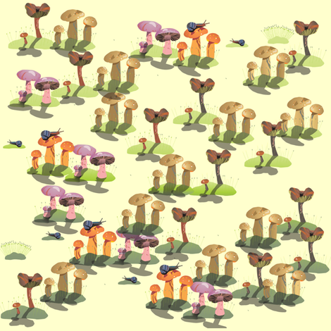 mushrooms fabric by krs_expressions on Spoonflower - custom fabric