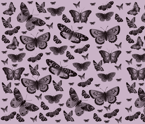 Pretty Pink Butterflies fabric by peacefuldreams on Spoonflower - custom fabric