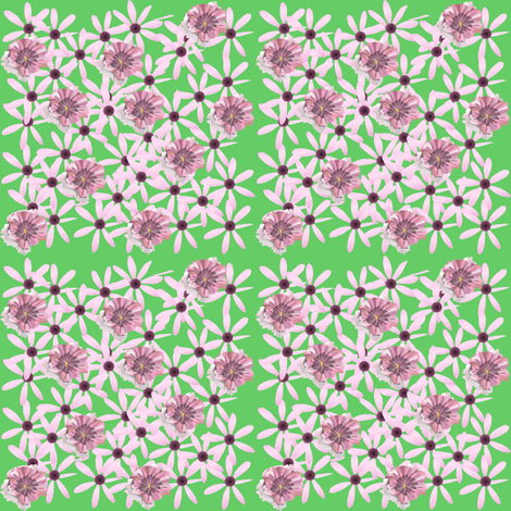 country pink flowers fabric by krs_expressions on Spoonflower - custom fabric