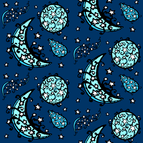 blue moon fabric by krs_expressions on Spoonflower - custom fabric