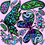 paisley - butterflies