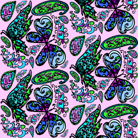 paisley - butterflies fabric by krs_expressions on Spoonflower - custom fabric