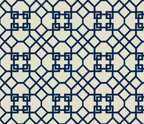 Lattice- Navy-Large fabric by mrsmberry on Spoonflower - custom fabric