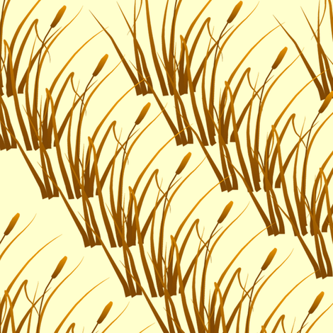 cattails fabric by krs_expressions on Spoonflower - custom fabric