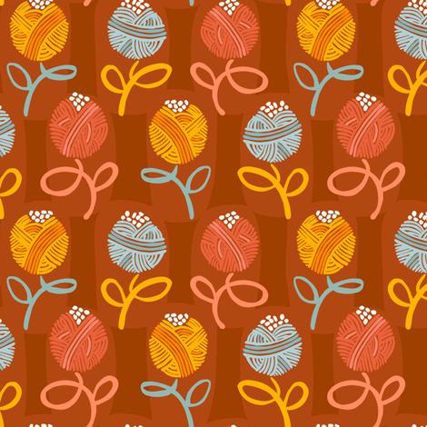 Yarn Ball Flora-Main fabric by gsonge on Spoonflower - custom fabric