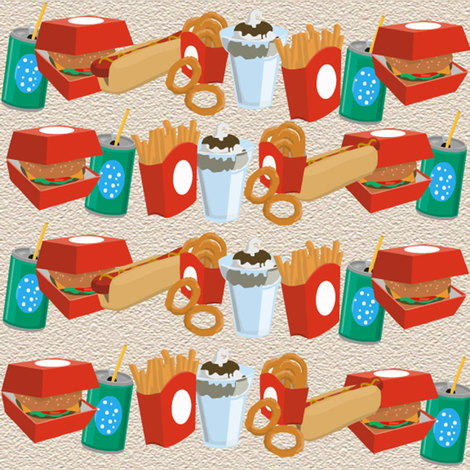 fast food fabric by krs_expressions on Spoonflower - custom fabric