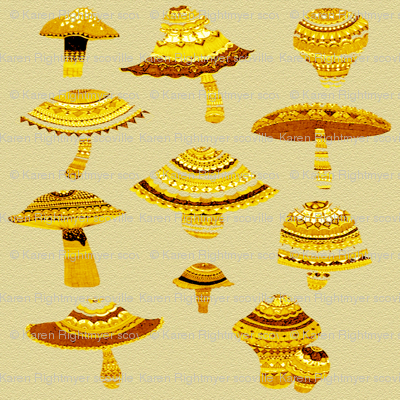 gold mushsrooms