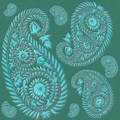 paisley - turquoise
