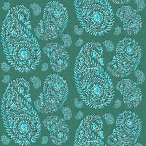 paisley - turquoise fabric by krs_expressions on Spoonflower - custom fabric
