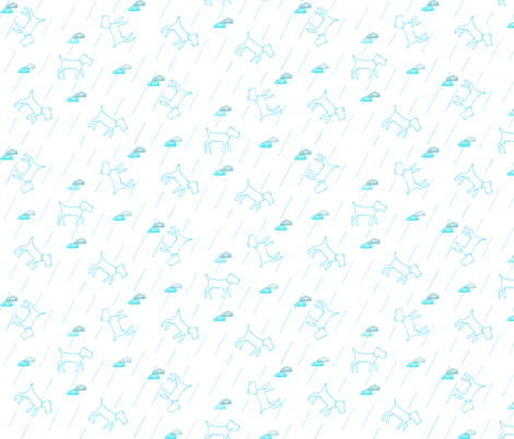 deco dogs in blue fabric by echobox on Spoonflower - custom fabric