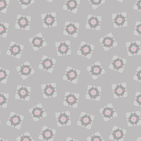 Companion Cube  fabric by cola82 on Spoonflower - custom fabric