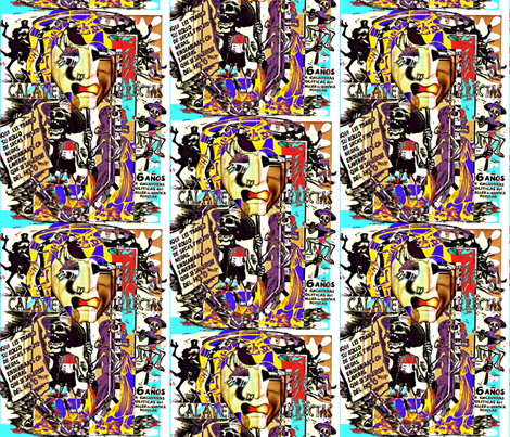 Dia De Los Muertos fabric by whimzwhirled on Spoonflower - custom fabric